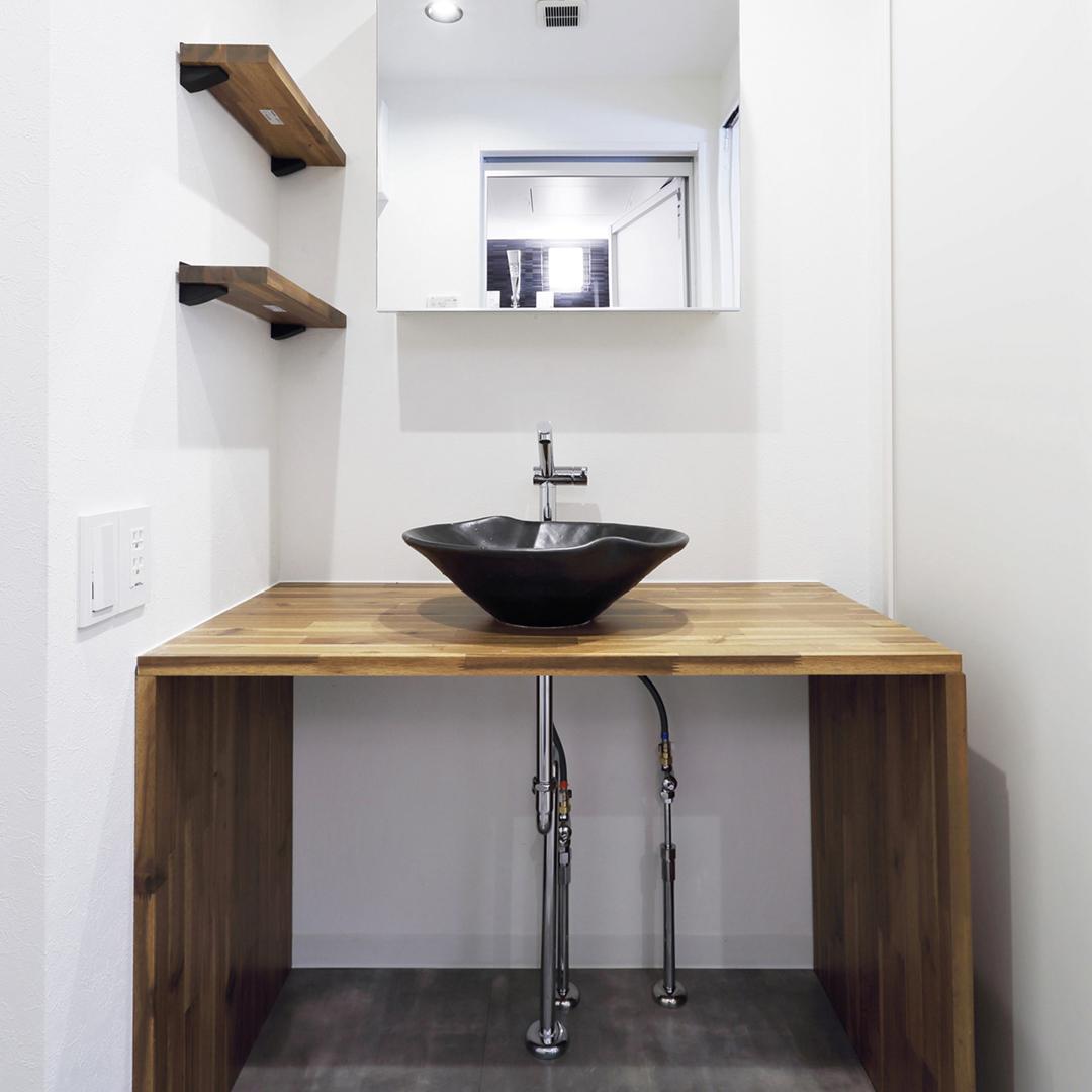 信楽焼の洗面台