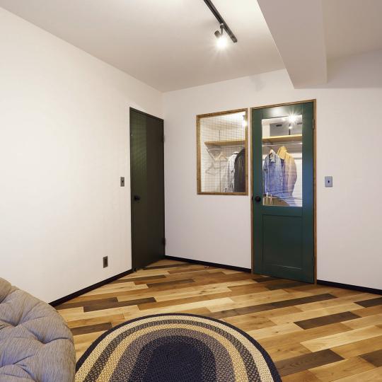 ヴィンテージテイストの寝室